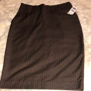 Old Navy brown pencil skirt size 4